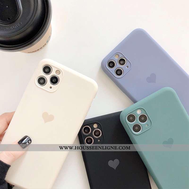 Coque iPhone 11 Pro Max Protection Personnalité Étui Charmant Ultra Silicone Légère Blanche