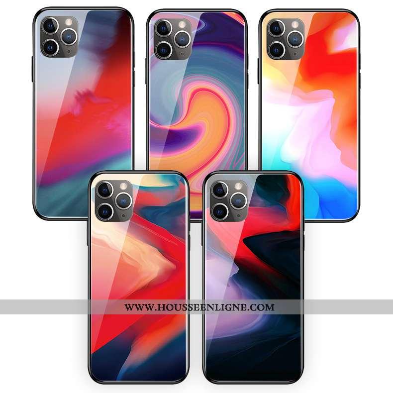 Coque iPhone 11 Pro Max Protection Verre Silicone Couleur Téléphone Portable Multicolore Art Coloré