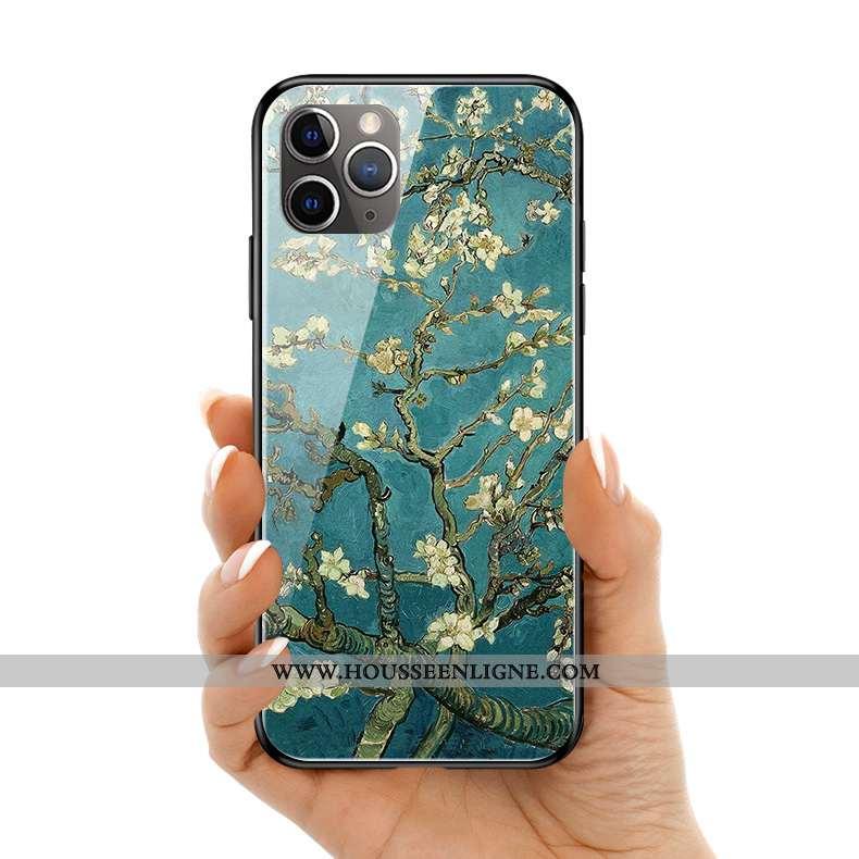 Coque iPhone 11 Pro Max Silicone Protection Ciel Étoilé Europe Peinture À L'huile Bleu