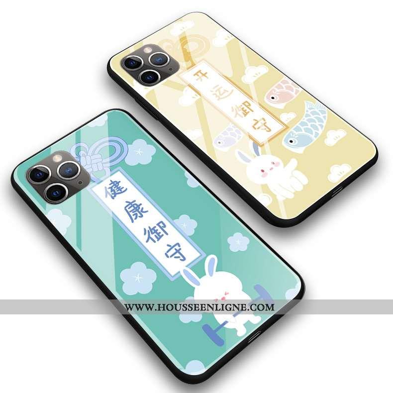 Coque iPhone 11 Pro Max Silicone Protection Téléphone Portable Jaune Verre