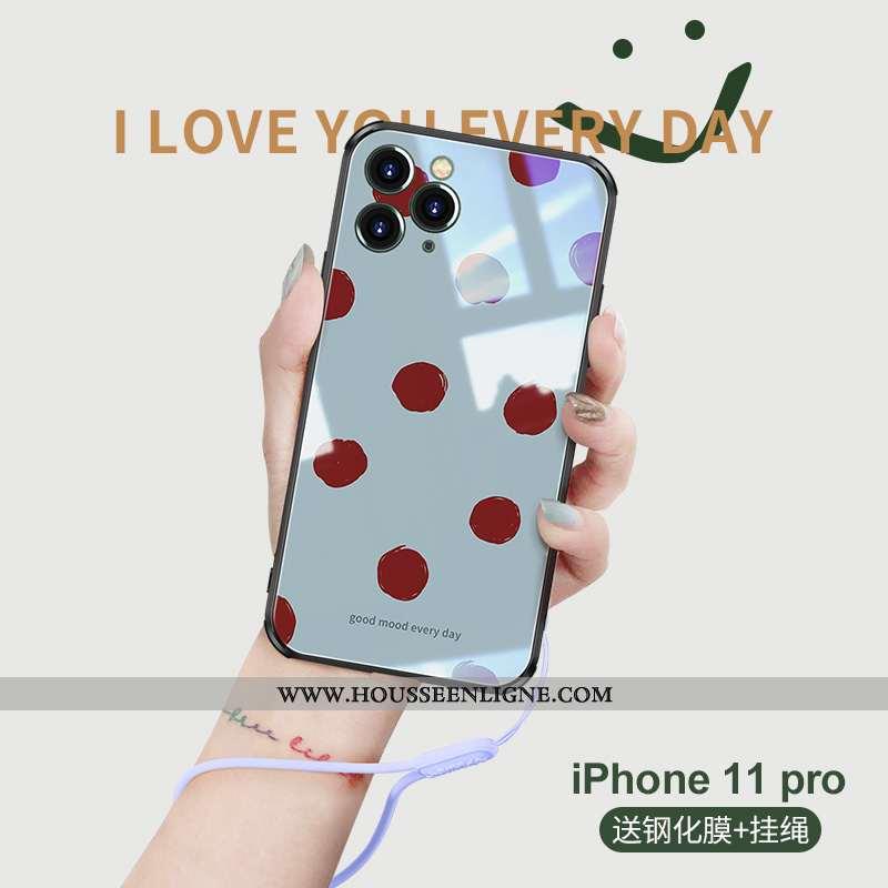 Coque iPhone 11 Pro Personnalité Créatif Rose Nouveau Bleu Tout Compris