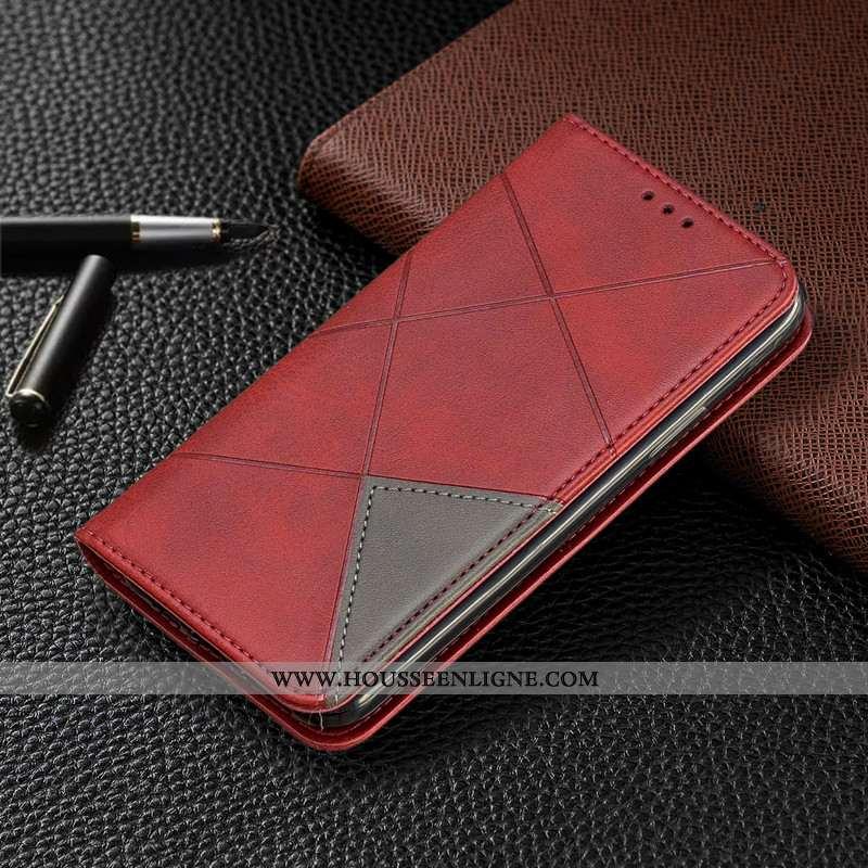Coque iPhone 11 Pro Protection Portefeuille Nouveau Cuir Automatique Rouge