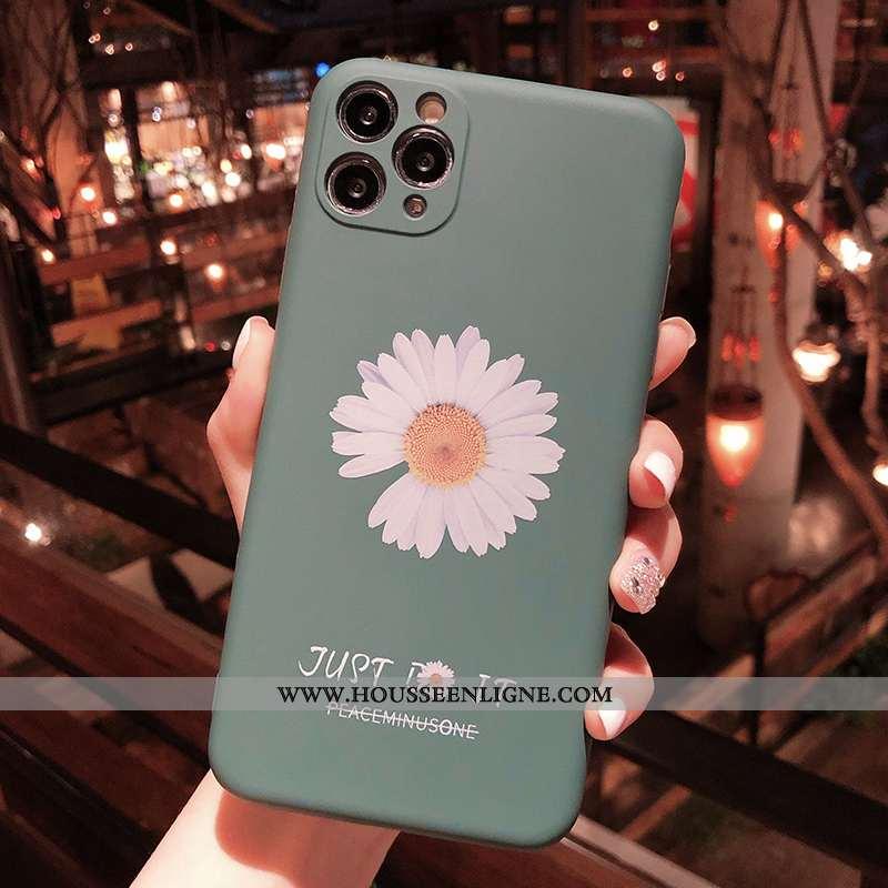 Coque iPhone 11 Pro Silicone Délavé En Daim Bleu Téléphone Portable Fluide Doux Tout Compris Tendanc