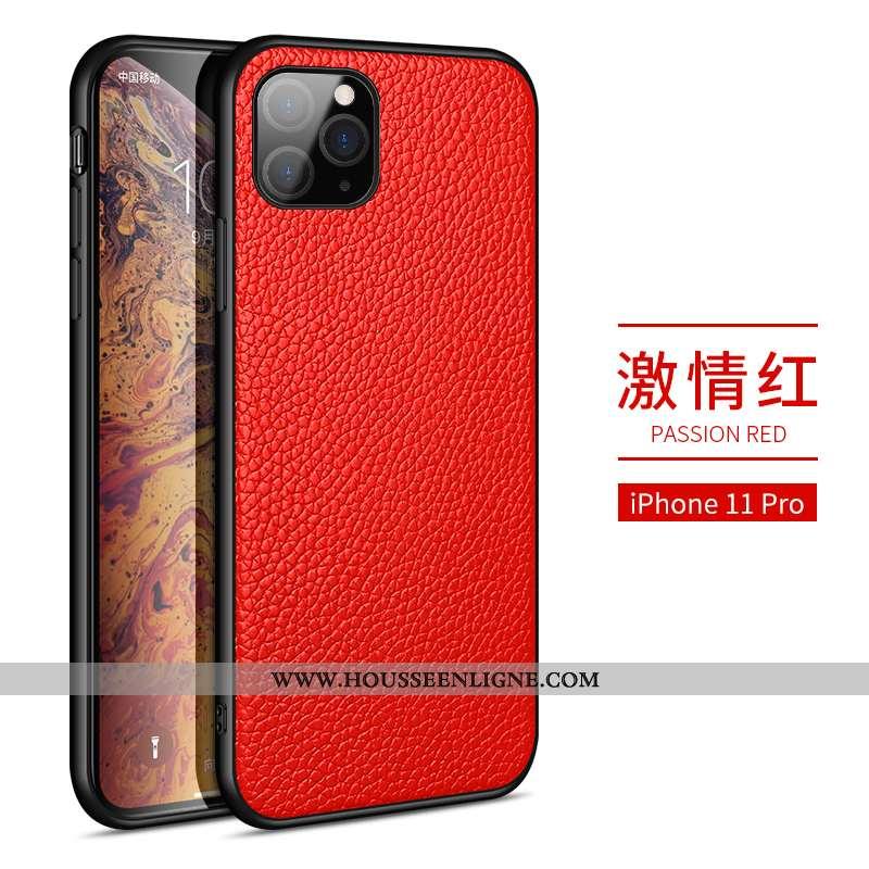 Coque iPhone 11 Pro Tendance Mode Téléphone Portable Rouge Business Étui