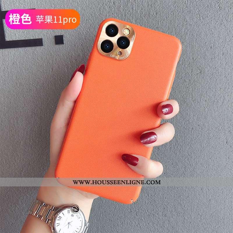 Coque iPhone 11 Pro Tendance Protection Personnalité Vent Amoureux Orange Rouge