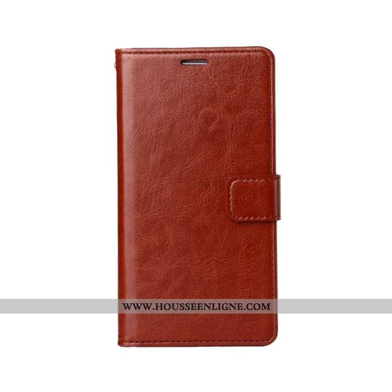 Coque iPhone 11 Protection Vintage Étui Téléphone Portable Simple Cuir Business Marron
