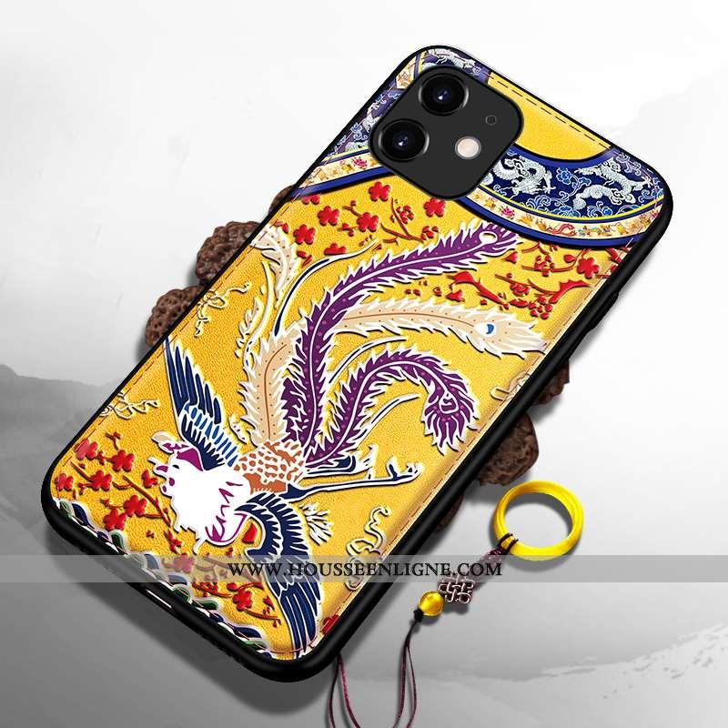 Coque iPhone 11 Silicone Ultra Tout Compris Dragon Jaune Téléphone Portable Palais
