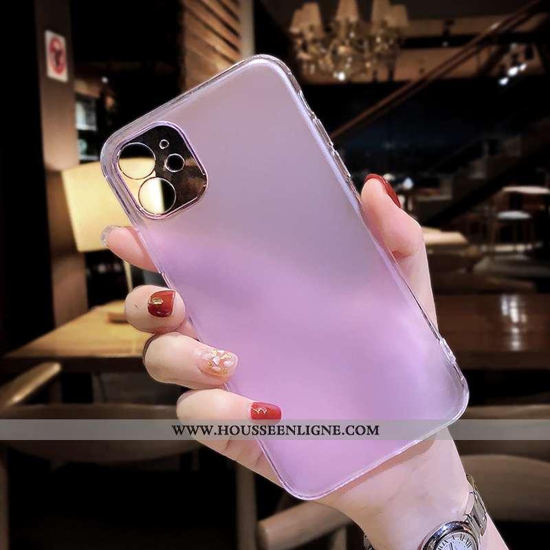 Coque iPhone 11 Ultra Tendance Légère Violet Tout Compris Net Rouge