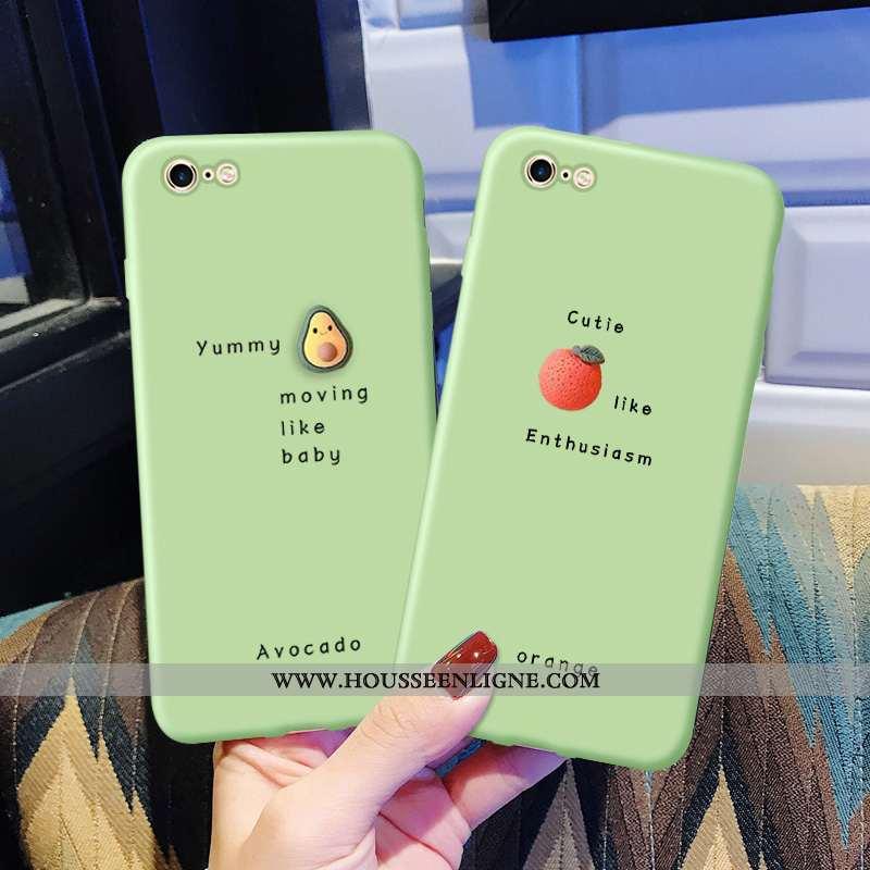 Coque iPhone 6/6s Fluide Doux Silicone Net Rouge Téléphone Portable Petit Nouveau Personnalité Verte