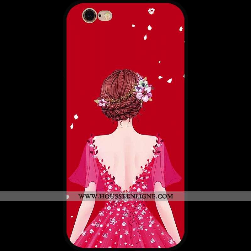 Coque iPhone 6/6s Personnalité Dessin Animé Nouveau Rouge Fluide Doux Téléphone Portable