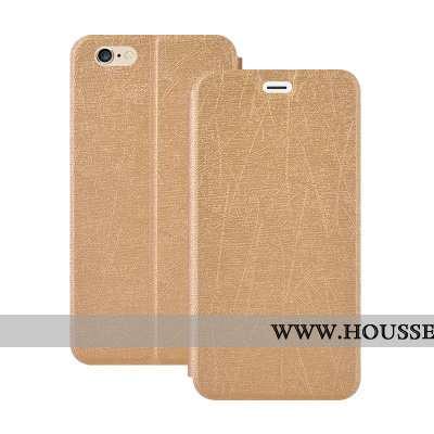 Coque iPhone 6/6s Plus Cuir Fluide Doux Téléphone Portable Or Étui Housse Doré