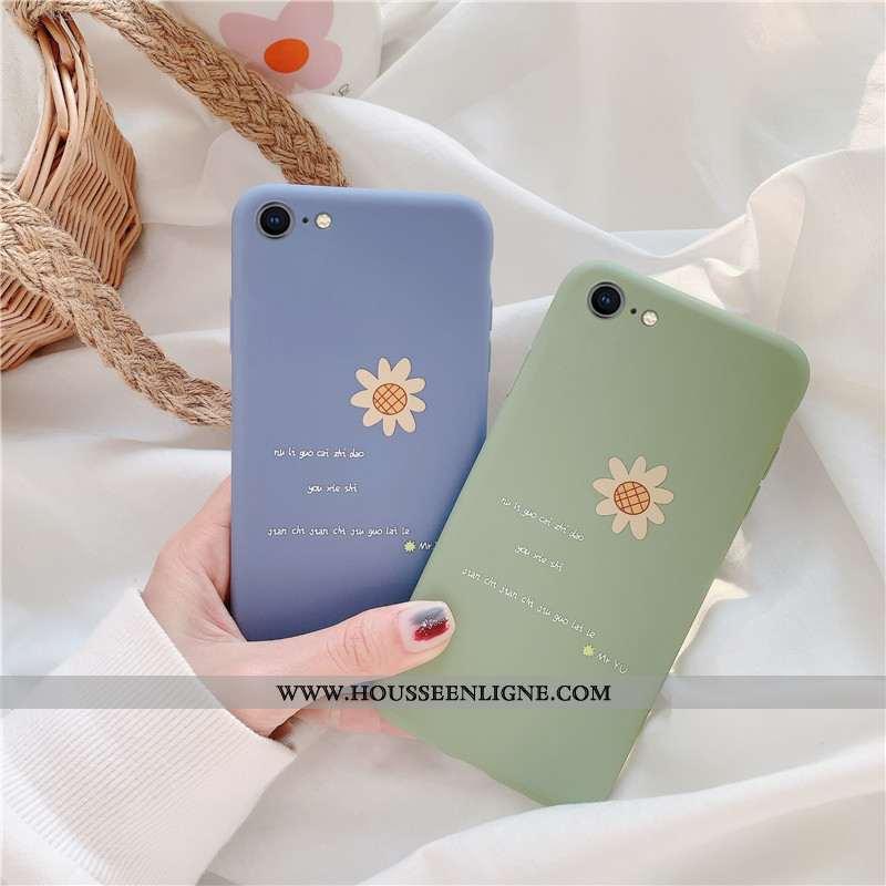 Coque iPhone 6/6s Plus Délavé En Daim Silicone Étui Incassable Protection Bleu Téléphone Portable