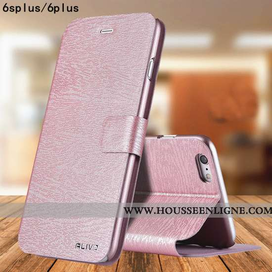 Coque iPhone 6/6s Plus Délavé En Daim Tendance Étui Protection Incassable Tout Compris Rose