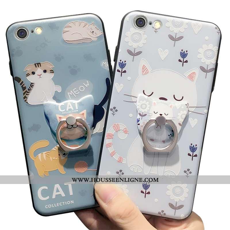 Coque iPhone 6/6s Plus Fluide Doux Protection Support Étui Petit Charmant Bleu