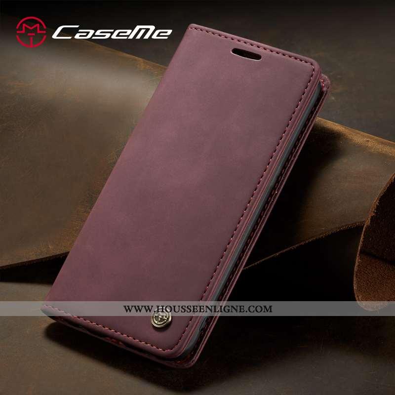Coque iPhone 6/6s Plus Protection Cuir Housse Lin Téléphone Portable Étui Rose
