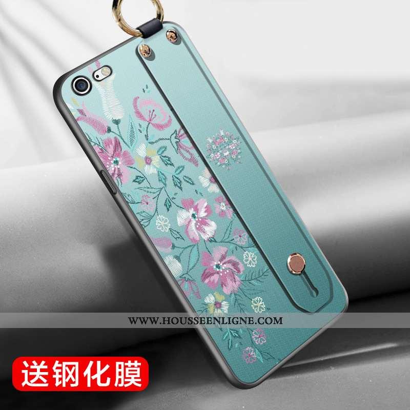 Coque iPhone 6/6s Plus Silicone Vert Étui Vent Style Chinois Téléphone Portable Verte