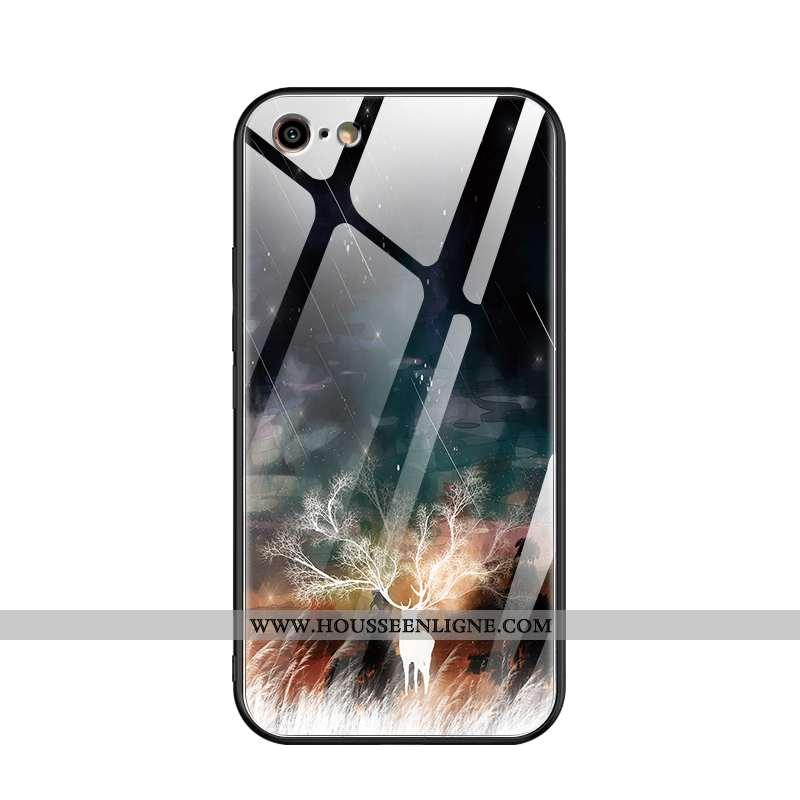 Coque iPhone 6/6s Tendance Fluide Doux Tout Compris Créatif Mode Personnalité Verre Noir