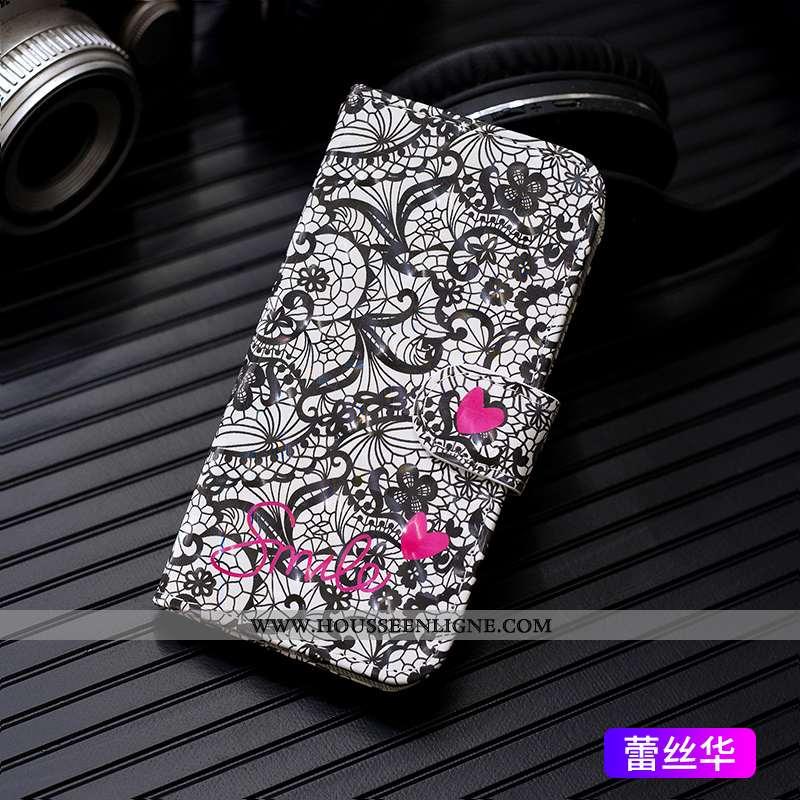 Coque iPhone 7 Cuir Mode Étui Peinture Téléphone Portable Incassable Noir