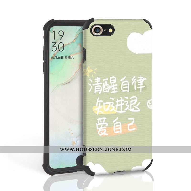 Coque iPhone 7 Fluide Doux Silicone Tendance Étui Vert Tout Compris Verte