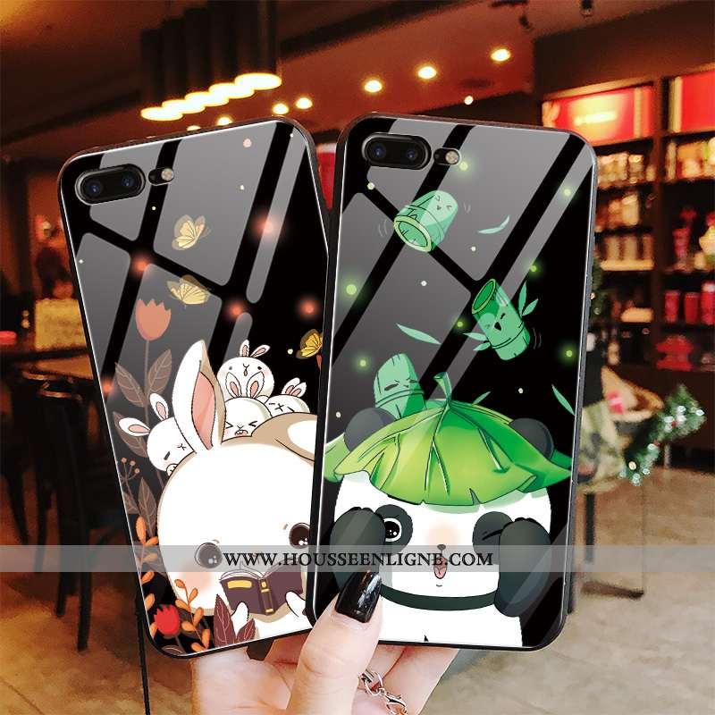 Coque iPhone 7 Plus Dessin Animé Charmant Téléphone Portable Verre Personnalité Incassable Miroir No