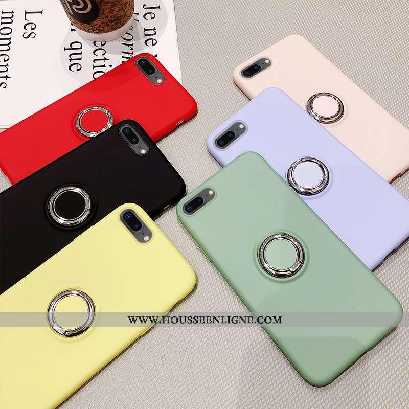 Coque iPhone 7 Plus Fluide Doux Couleur Unie Téléphone Portable Incassable Vert Tempérer Verte