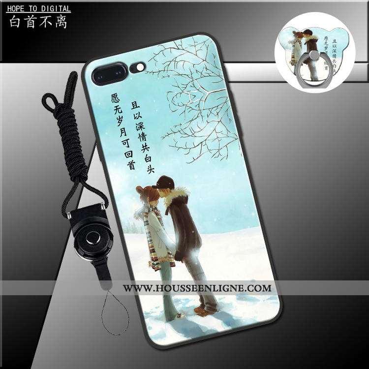 Coque iPhone 7 Plus Ornements Suspendus Charmant Fluide Doux Étui Vert Téléphone Portable Verte