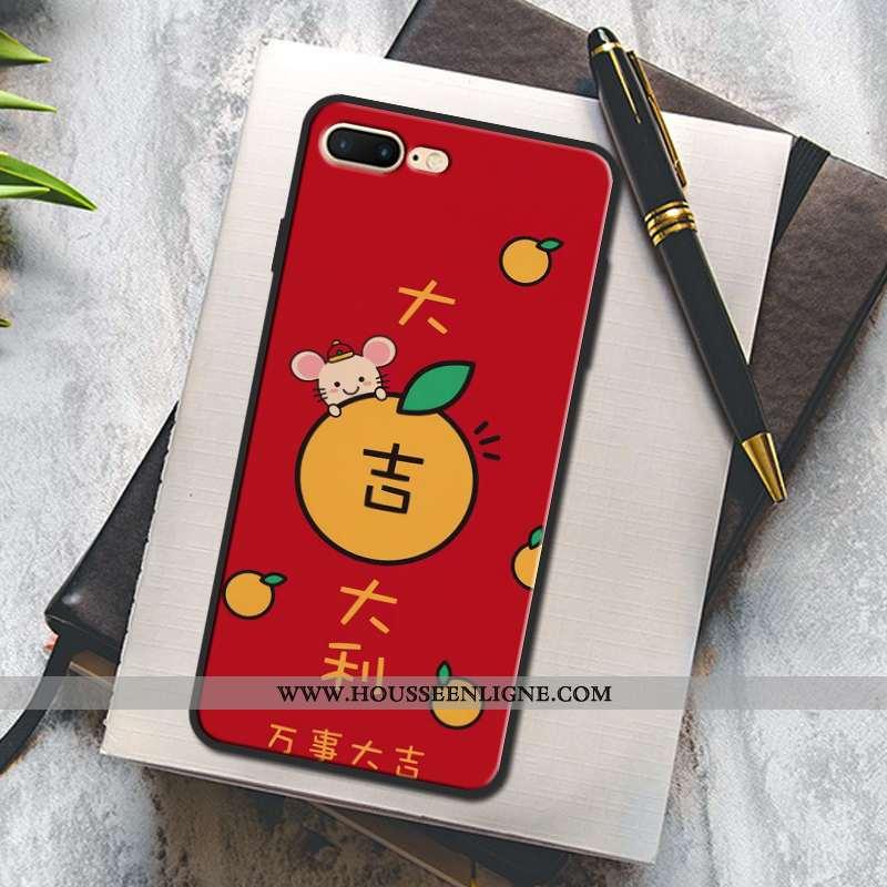 Coque iPhone 7 Plus Protection Mode Peinture Rouge Téléphone Portable Étui