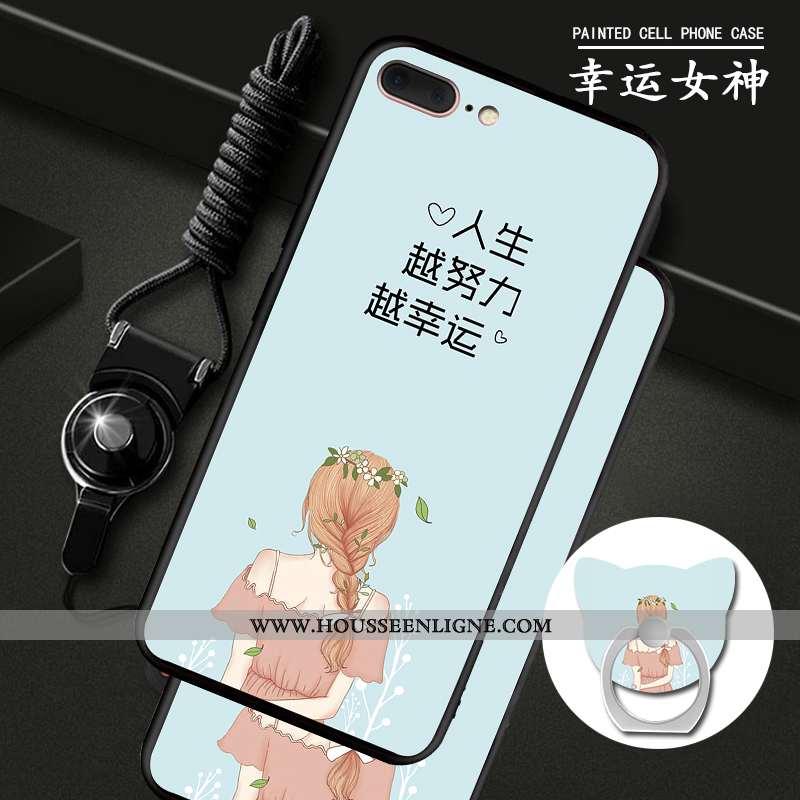 Coque iPhone 7 Plus Protection Ornements Suspendus Téléphone Portable Étui Bleu Anneau