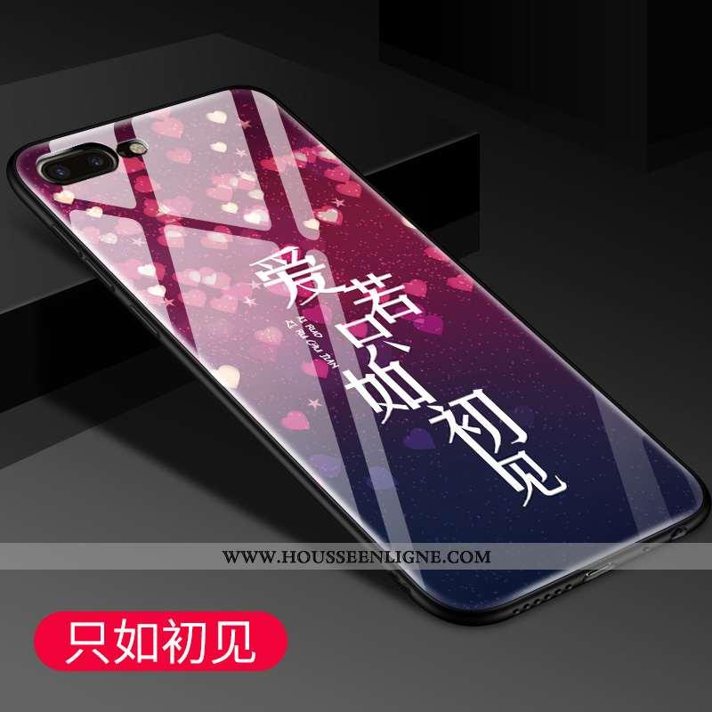 Coque iPhone 7 Plus Verre Personnalité Dessin Animé Incassable Téléphone Portable Miroir Protection