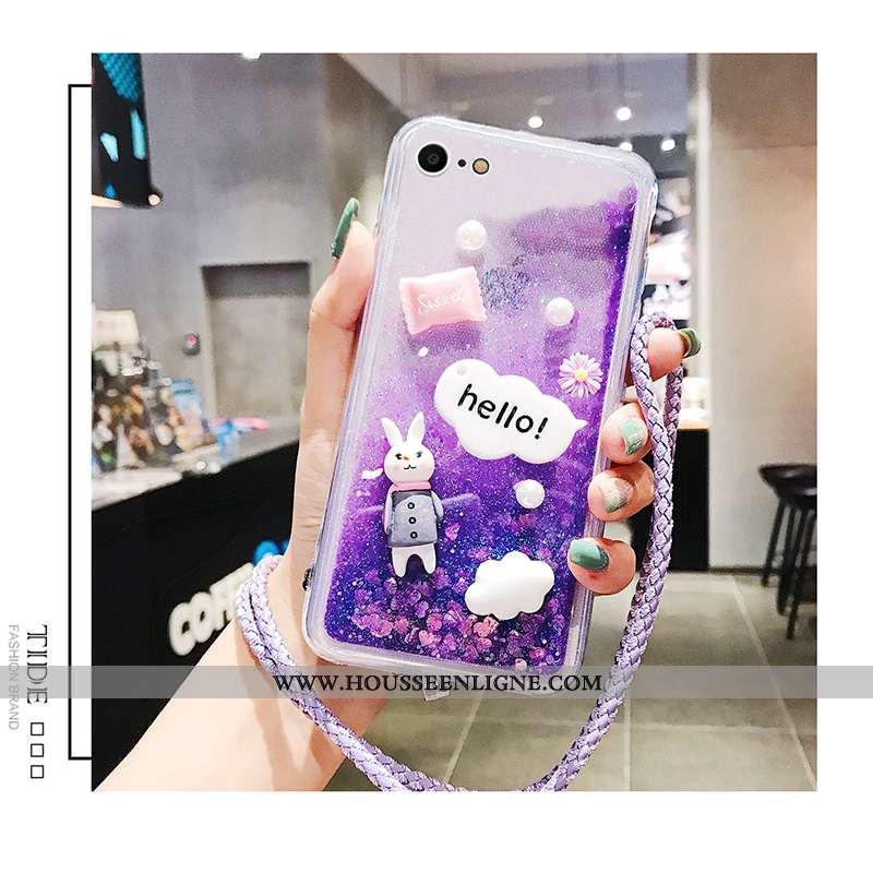 Coque iPhone 7 Silicone Protection Étui Net Rouge Tout Compris Incassable Dessin Animé Violet