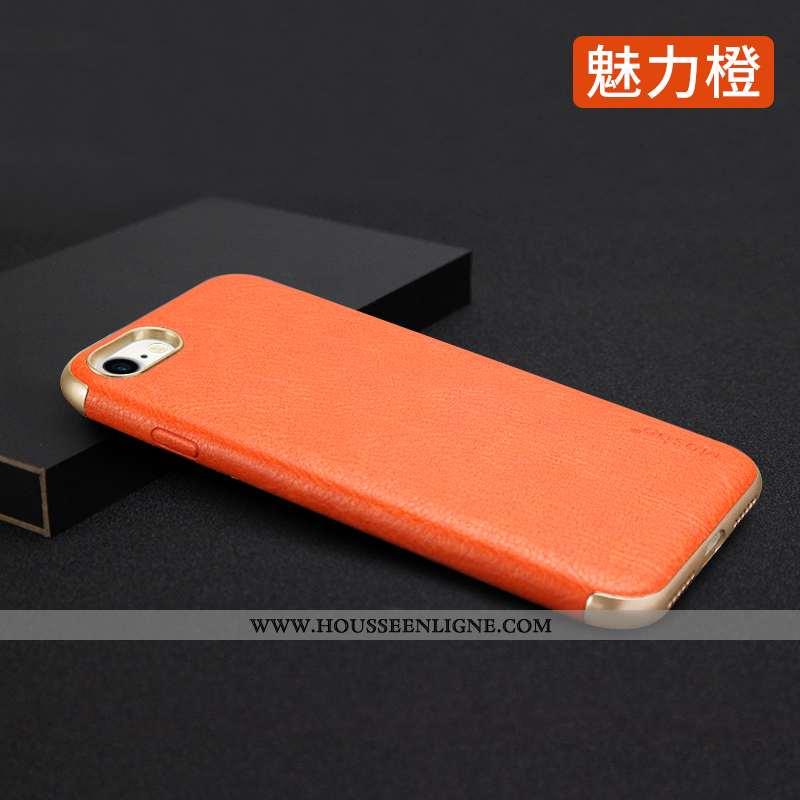Coque iPhone 7 Tendance Fluide Doux Net Rouge Étui Téléphone Portable Nouveau Orange