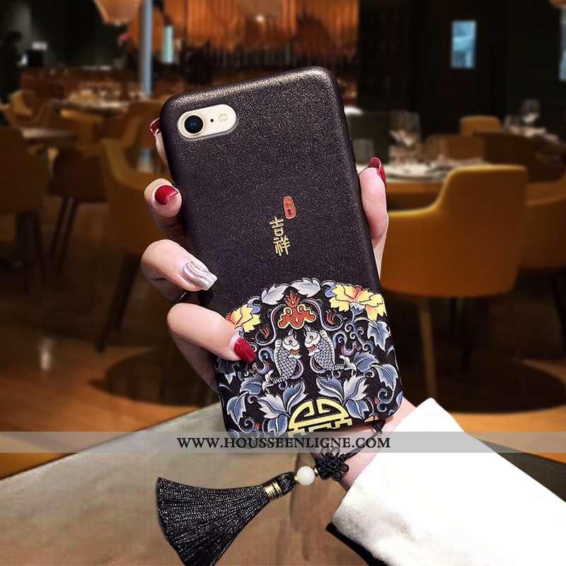 Coque iPhone 7 Tendance Fluide Doux Silicone Personnalité Téléphone Portable Rat Noir