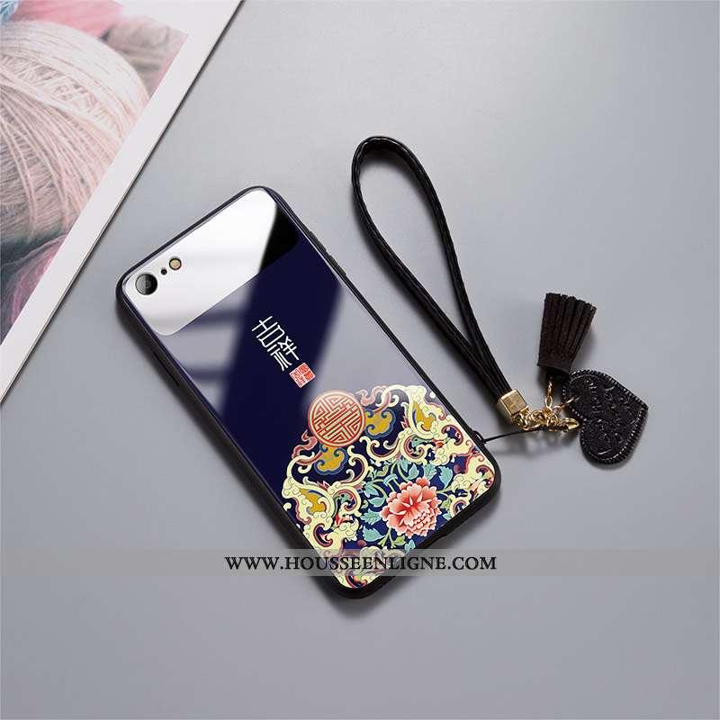 Coque iPhone 7 Tendance Légère Amoureux Incassable Ultra Miroir Noir