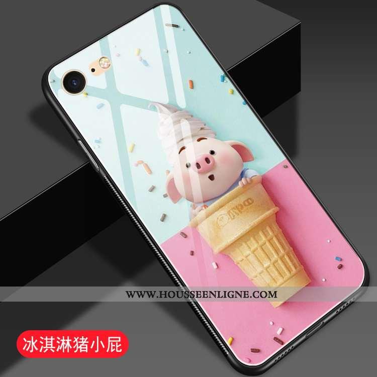 Coque iPhone 8 Dessin Animé Charmant Difficile Protection Téléphone Portable Miroir Rose