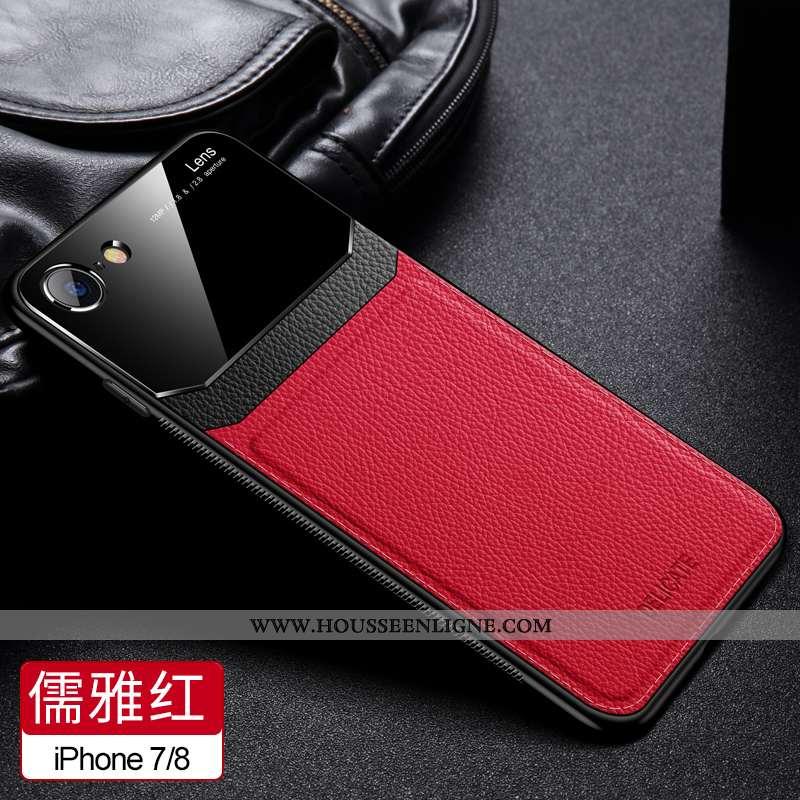 Coque iPhone 8 Mode Protection Rouge Étui Tendance Luxe