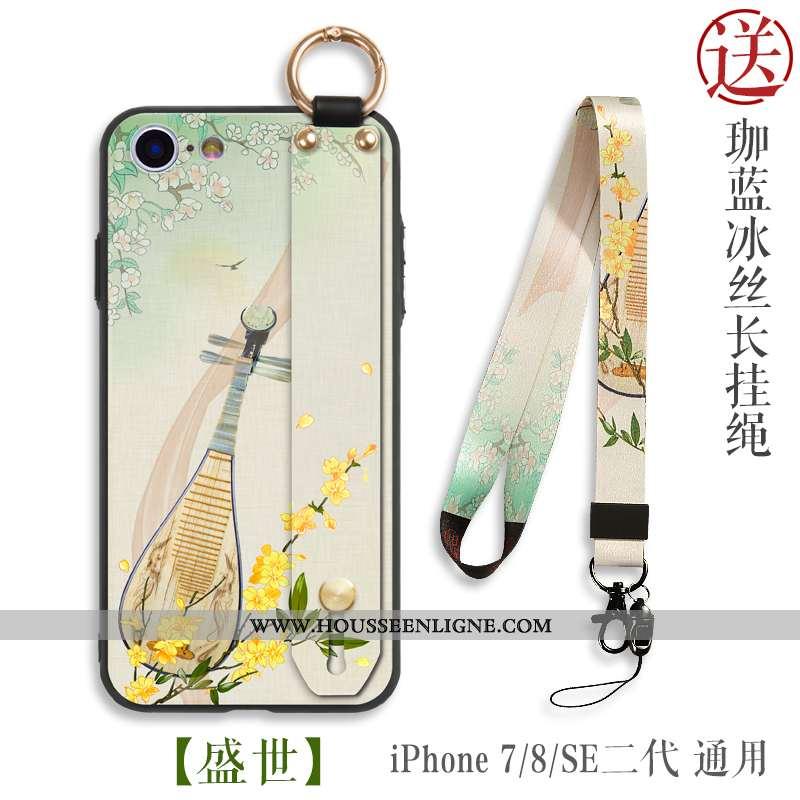 Coque iPhone 8 Ornements Suspendus Personnalité Téléphone Portable Silicone Tout Compris Style Chino