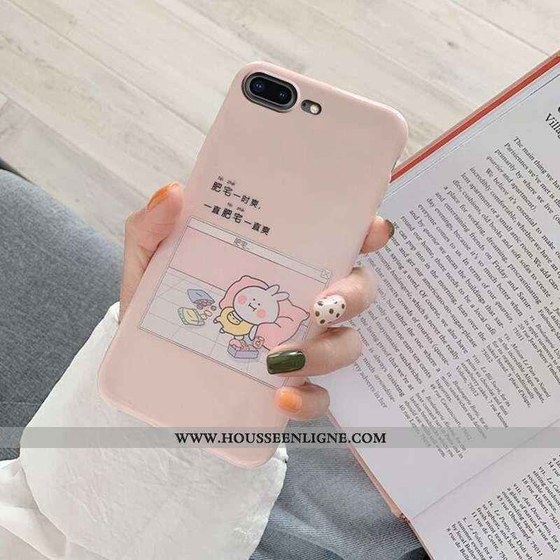Coque iPhone 8 Plus Légère Fluide Doux Net Rouge Ultra Tendance Téléphone Portable Rose
