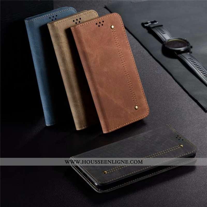 Coque iPhone 8 Protection Cuir Étui Téléphone Portable Housse Business Incassable Noir