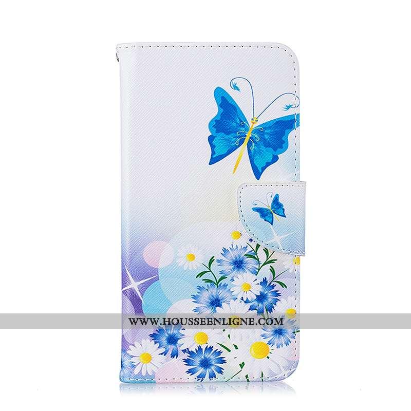 Coque iPhone 8 Protection Cuir Peinture Housse Blanc Étui Blanche