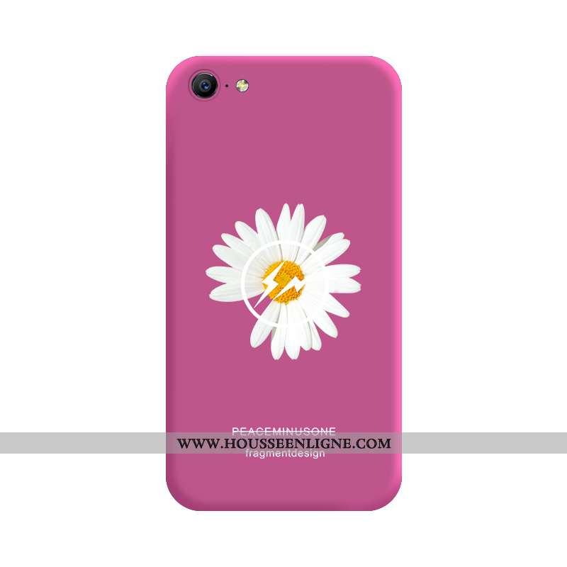 Coque iPhone 8 Silicone Protection Rouge Fluide Doux Téléphone Portable Dragon Rose