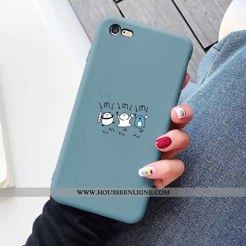 Coque iPhone 8 Tendance Silicone Protection Dessin Animé Étui Incassable Bleu