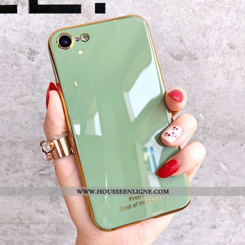 Coque iPhone Se (nouveau) Fluide Doux Silicone Vert Tendance Net Rouge Charmant Verte