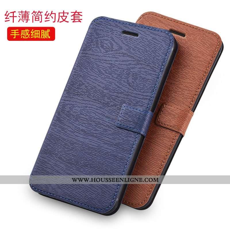 Coque iPhone Se (nouveau) Protection Cuir Incassable Housse Bleu Fluide Doux