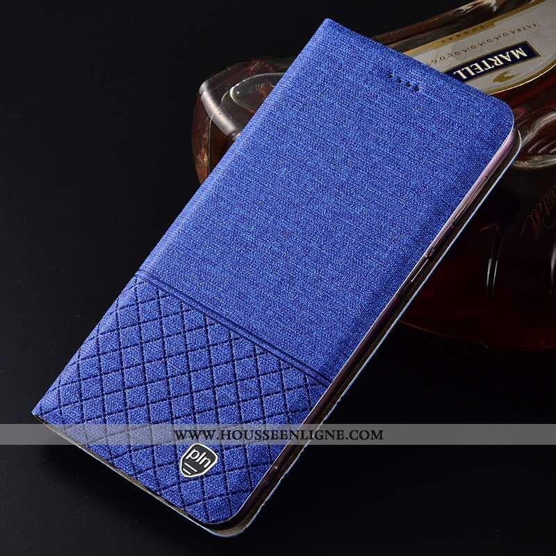 Coque iPhone Se (nouveau) Protection Cuir Téléphone Portable Nouveau Étui Tout Compris Lin Bleu
