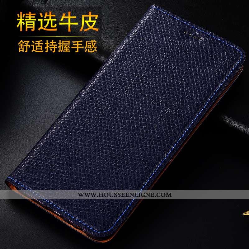 Coque iPhone Se (nouveau) Protection Cuir Véritable Modèle Fleurie Bleu Mesh Nouveau Téléphone Porta