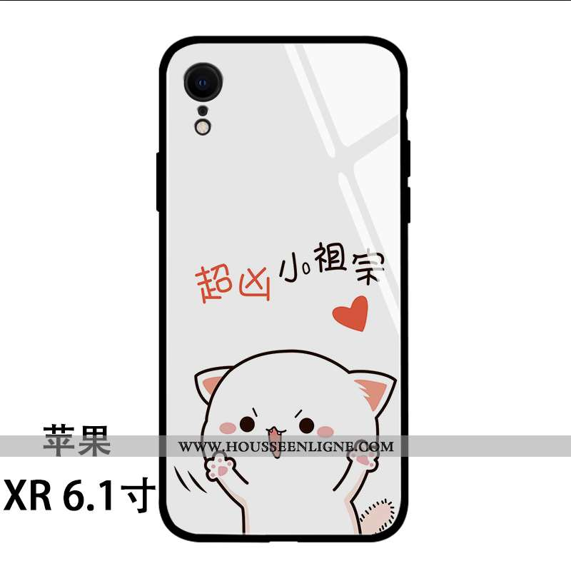 Coque iPhone Xr Charmant Tendance Net Rouge Créatif Dessin Animé Vent Nouveau Blanche