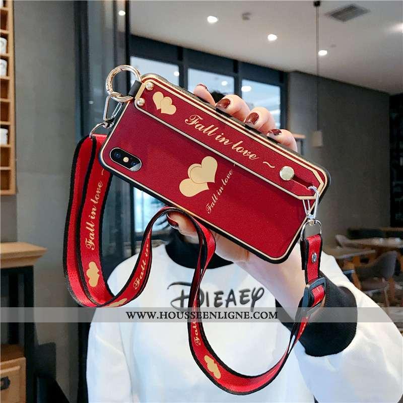 Coque iPhone Xs Fluide Doux Silicone Légère Étui Téléphone Portable Incassable Rouge