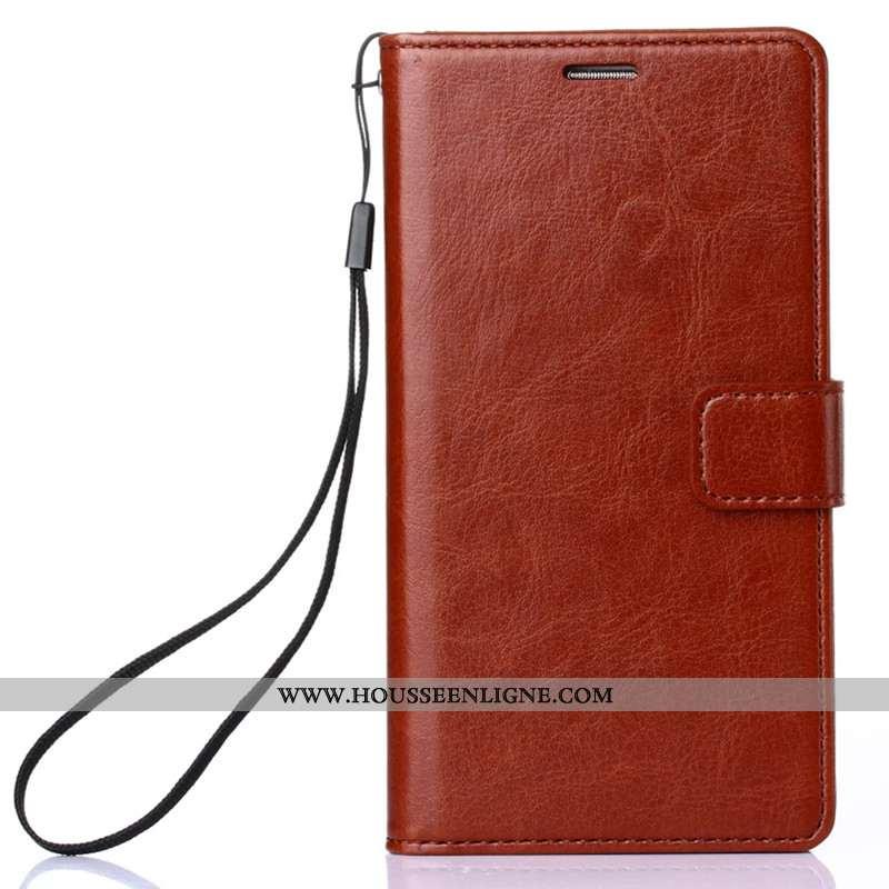 Coque iPhone Xs Max Protection Cuir Housse Étui Incassable Téléphone Portable Marron