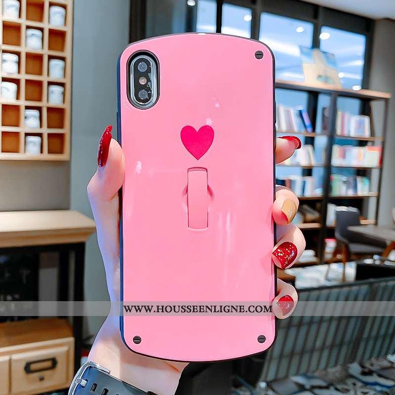 Coque iPhone Xs Max Tendance Mode Amour Cœur Rose Invisible