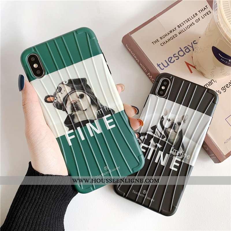 Coque iPhone Xs Personnalité Créatif Fluide Doux Téléphone Portable Incassable Étui Tout Compris Ver